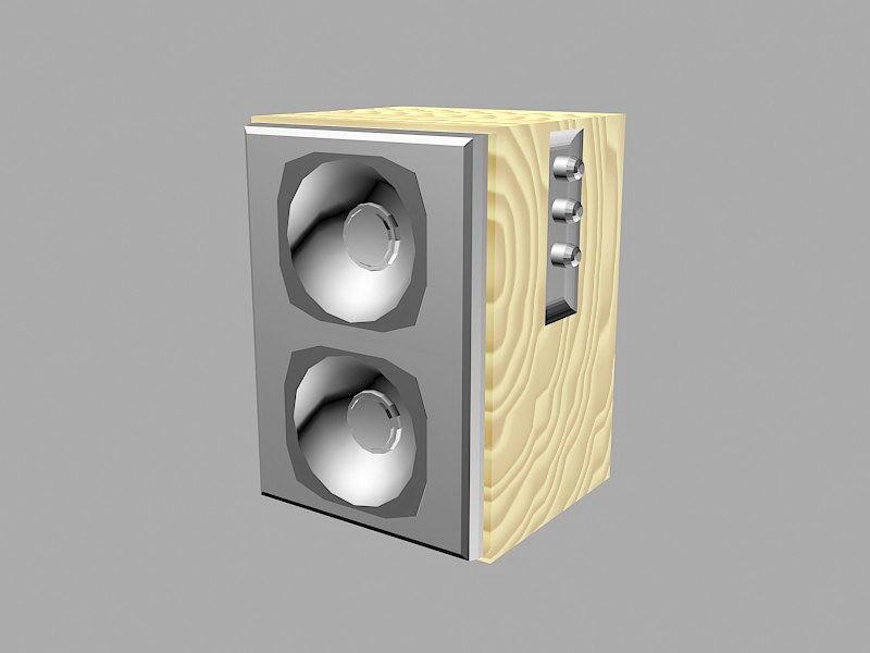 Desktop Loudspeaker 3d rendering