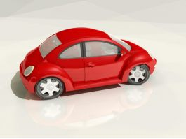 Red VW Beetle 3d preview