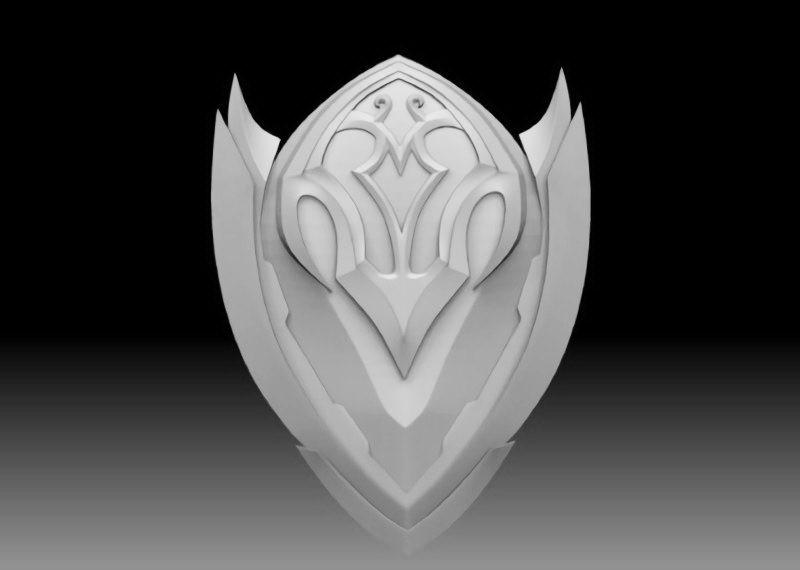 Armor Shield 3d rendering