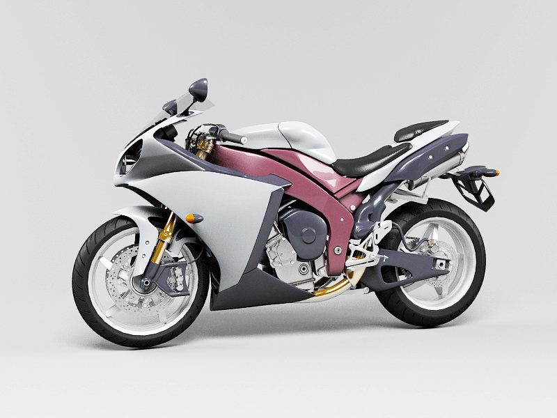 Cruiser Motorcycle 3d rendering
