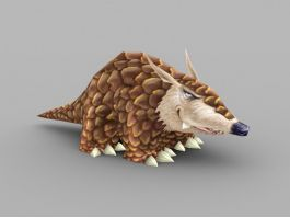 Cute Pangolin Animal 3d preview