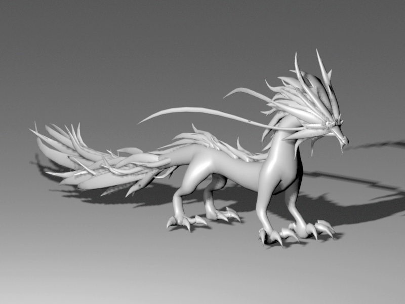Eastern Dragon 3d rendering