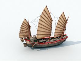 Ancient Chinese Merchant Ship 3d preview