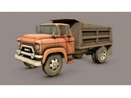 Old Dump Truck 3d preview