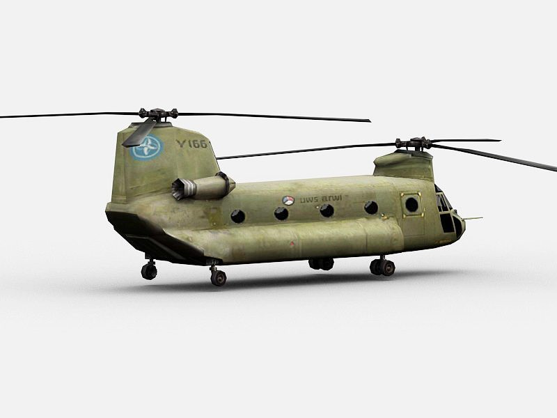 CH-47 Chinook Transport Helicopter 3d rendering