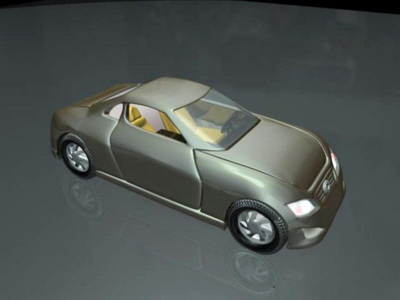Old Coupe Car 3d rendering