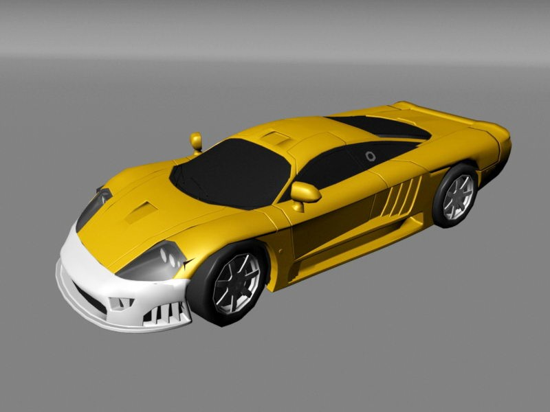 Exotic Sports Car 3d rendering