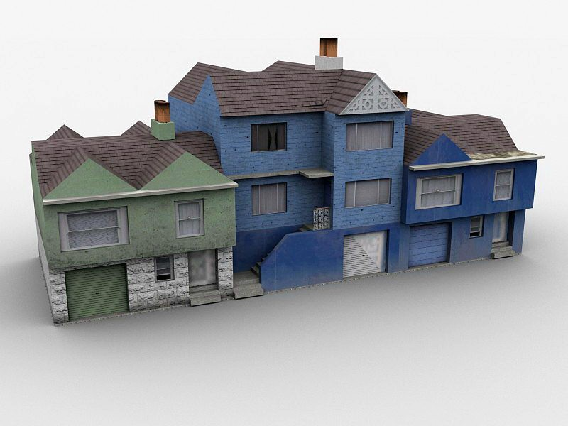 Old Town Homes 3d rendering