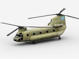CH-47 Chinook Transport Helicopter 3d preview