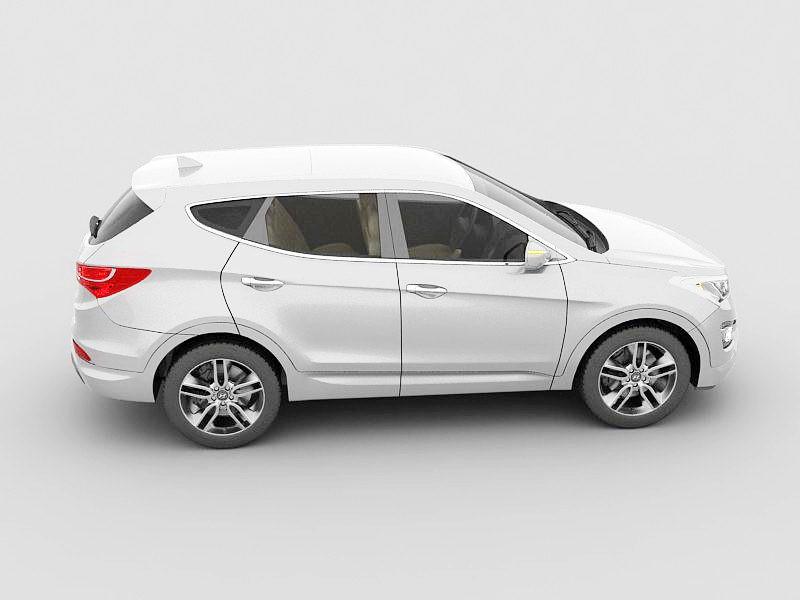 Hyundai Santa Fe SUV 3d rendering