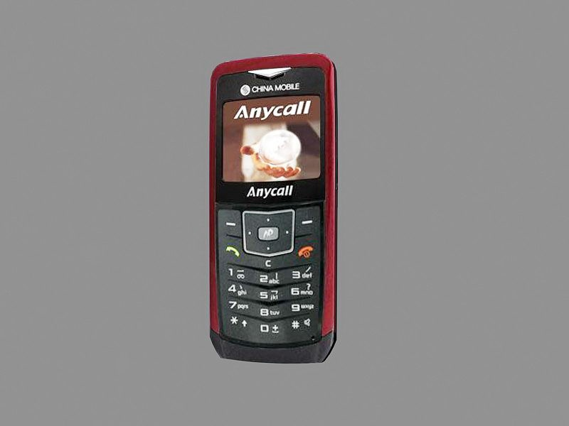 Samsung Anycall U108 3d rendering