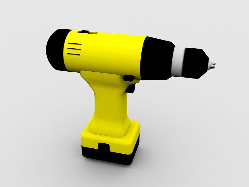 Cordless Drill 3d rendering
