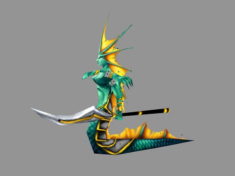 Naga Siren 3d rendering