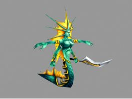 Naga Siren 3d preview