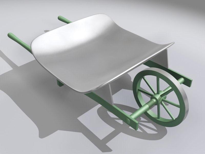 Garden Hand Cart 3d rendering