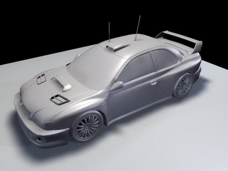 Road Racing Car 3d rendering
