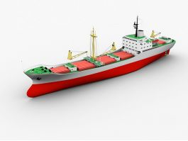 Modern Cargo Ship 3d preview