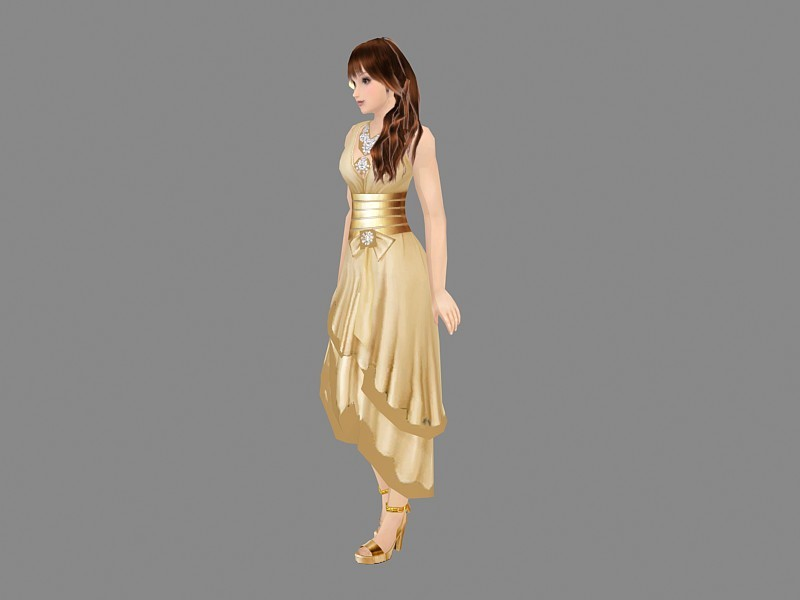Fashion Girl Character 3d rendering