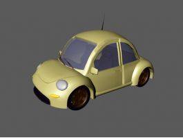 Volkswagen Beetle Cartoon Car 3d preview