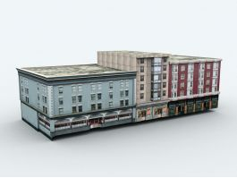 Old Apartment Buildings 3d preview