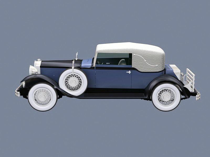 Old Packard Car 3d rendering
