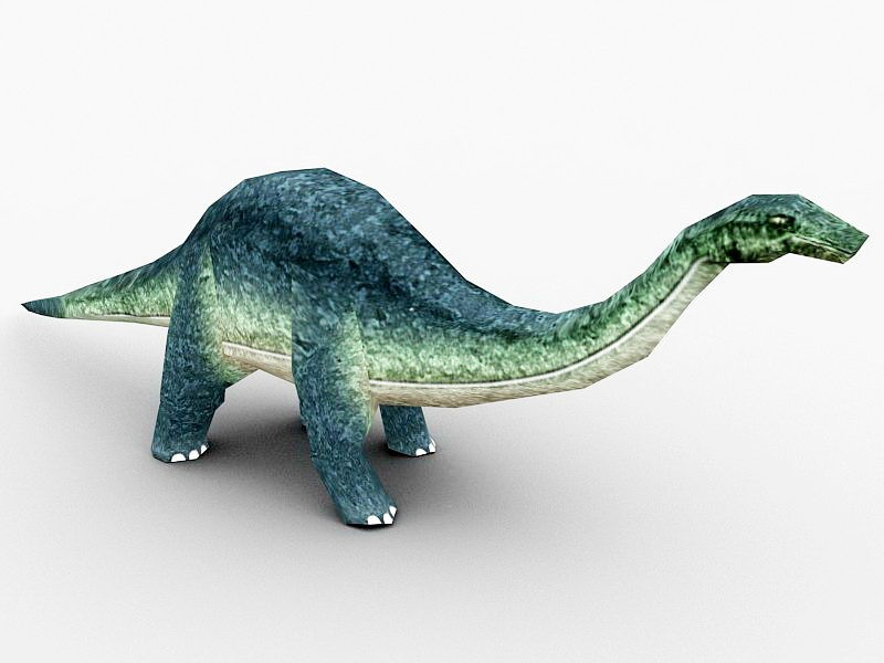Animated Brontosaurus 3d rendering