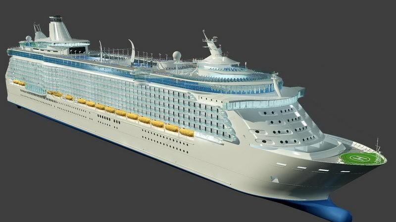 Ocean Liner Ship 3d rendering