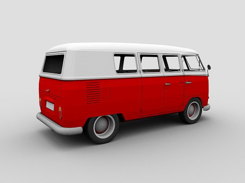 Volkswagen Will Build Microbus 3d rendering
