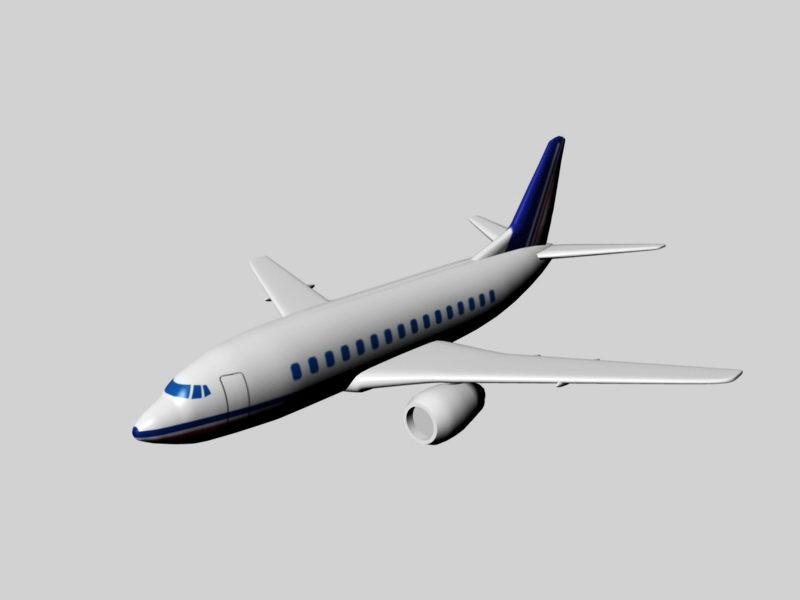 Boeing Airplane 3d rendering