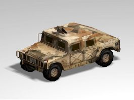 Old Military Hummer 3d preview