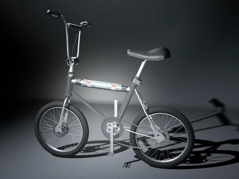 Small Wheel Bicycle 3d rendering