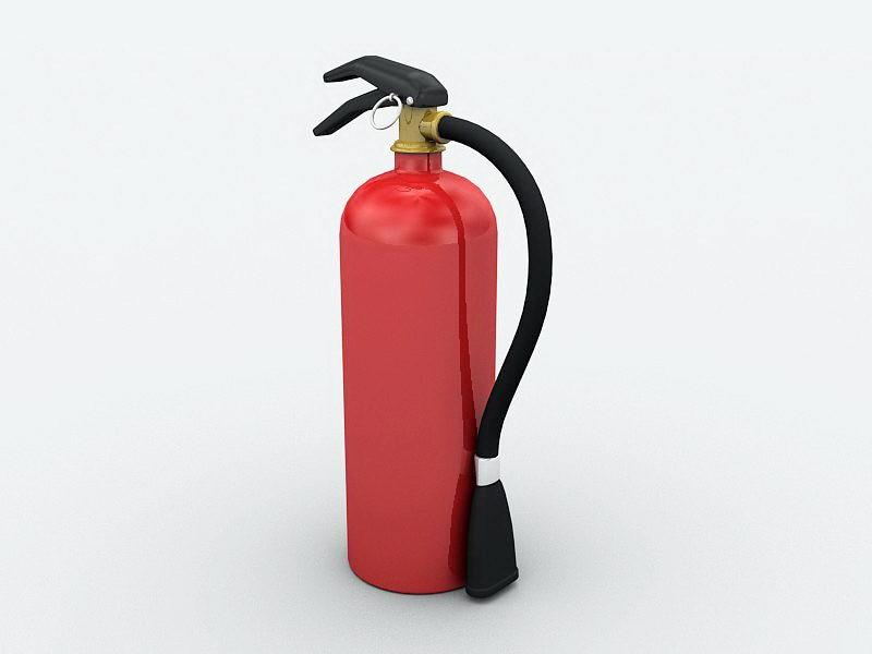 Fire Extinguisher 3d rendering