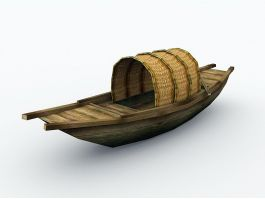 Traditional Chinese Fishing Boat 3d preview