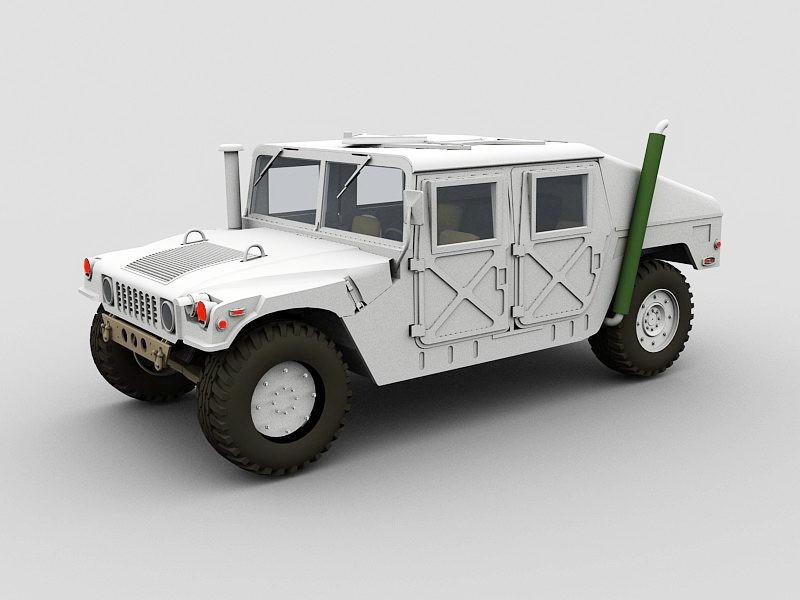 Hummer Humvee 3d rendering