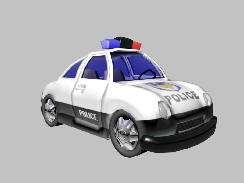 Police Wagon Cartoon 3d rendering