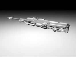 Heavy Sniper Rifle 3d model preview