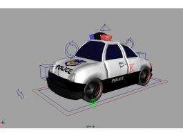 Police Wagon Cartoon 3d preview