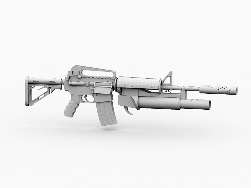 Military M4A1 Carbine 3d rendering