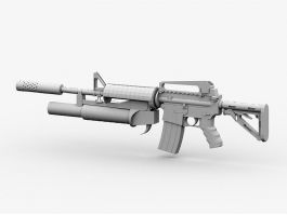 Military M4A1 Carbine 3d model preview