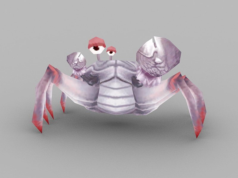 Anime Crab 3d rendering