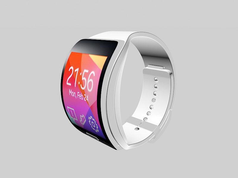 Samsung Smartwatch 3d rendering
