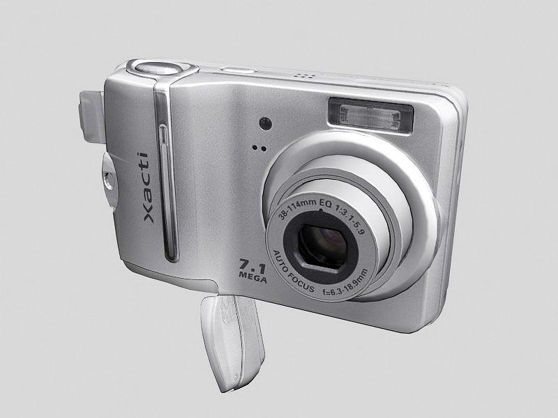 Sanyo Xacti Digital Camera 3d rendering