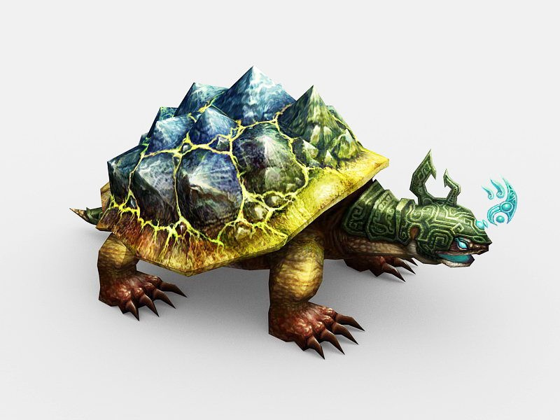 Mythical Turtle 3d rendering