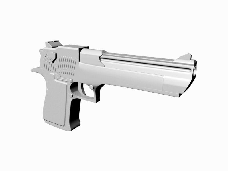 Desert Eagle Pistol 3d rendering