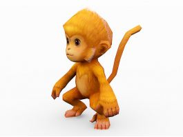Orange Monkey Cartoon 3d preview