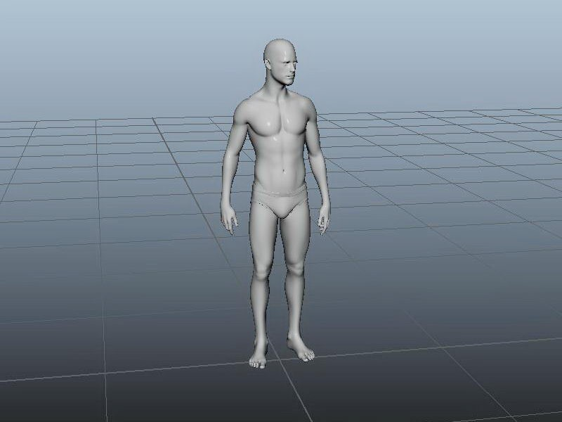 Man Base Mesh 3d rendering