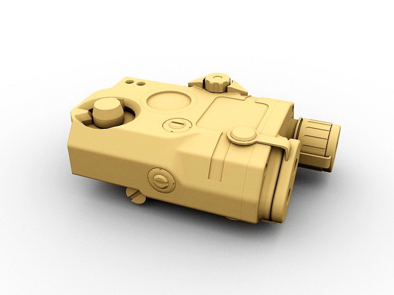 PEQ Aiming Light Laser Sight 3d rendering