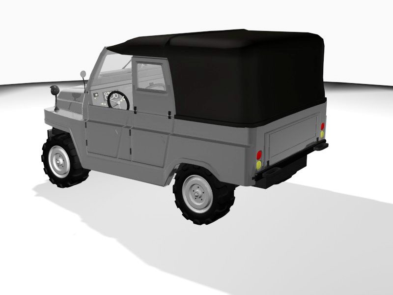 Black Jeep 3d rendering