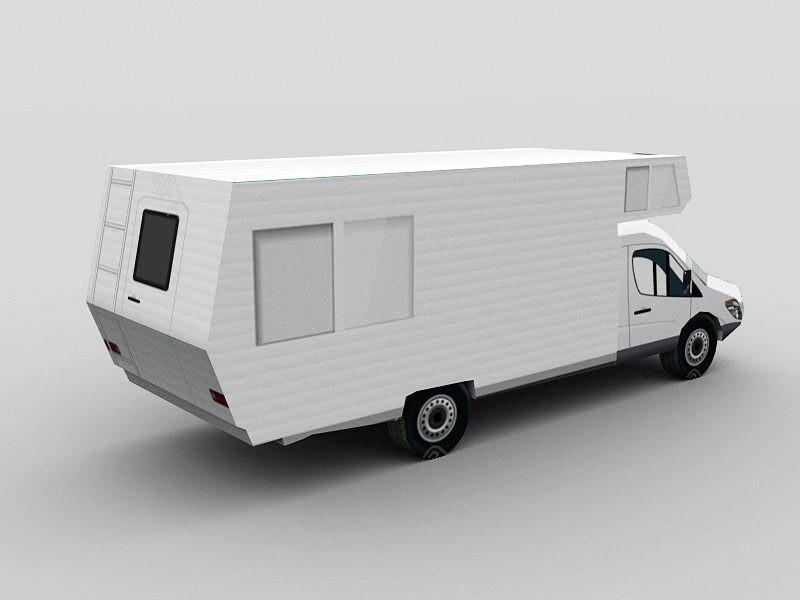 Recreational Vehicle 3d rendering