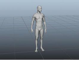 Man Base Mesh 3d preview
